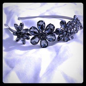 BCBGMAXAZRIA Blue Glass Headband